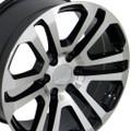 "20"" Machine Black 2015 CK158 Chevy GMC Yukon Sierra Cadillac Wheels Rims Set of 4 20x9"