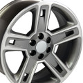 "22"" Fits Chevrolet 2015 Silverado Tahoe CK160 Wheels Rims Hyper Black Machined Face 22x9  - Hollander # 5664"
