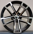"20"" Fits Chevy Camaro ZL1 Staggered Machine Black Wheels Set of 4 20x9 20x10"" Rims"