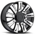 "22"" 2015 Cadillac Escalade Luxury Option 3 Black with Chrome Wheels Rims Set of 4 22x9"""