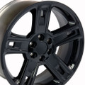 "22"" Fits Chevrolet 2015 Silverado Tahoe CK160 Wheels Rims Gloss Black 22x9"" Hollander # 5664"
