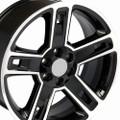 "22"" Fits Chevrolet- 2015 Silverado Tahoe CK160 Wheels Replica GMC Rims Gloss Black with Machined Face 22x9  - Hollander # 5664"