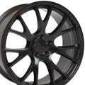 "Hellcat Style 22"" Wheels Satin Black Dodge Ram Dakota Durango Chrysler 22x10 Rims"