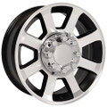 "20"" Fits Ford® F250-F350 Wheels Satin Black Machined Face Set of 4 20x8 Hollander 3693 Rims"