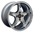 "17"" Fits Ford Mustang® Cobra R 4 Lug Deep Dish Wheel Chrome 17x9"" Rim"