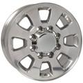 "18"" Fits Chevrolet GMC Sierra 2500 3500 Wheel Polished Set of 4 18x8"""
