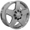 "20"" Fits Chevrolet Silverado GMC Wheel PVD Chrome Set of 4 20x8.5 Rims"