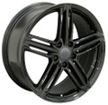 "18"" Fits Audi RS6 VW Wheel Rim Gloss Black 18x8"" Rim 35mm offset"
