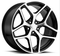 """20"""" Fits Chevy Camaro Z28 Style Machined Black Staggered Wheels Set of 4 20x10/11"""" Rims"""