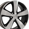 "20"" Fits Jeep Grand Cherokee 2015 Black Machined Face Wheels 20x8"" Rims"