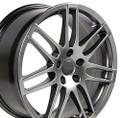 "18"" Fits Audi RS4 Wheels Hyper Silver Set of 4 18x8"" Rims"