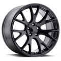 "Hellcat Style 22"" Gloss Black Dodge Ram Dakota Durango Chrysler Wheels 22x10"" Rims"