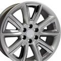 "20"" Fits GMC Denali Style Wheels Chevy Tahoe Cadillac  Silverado Sierra Yukon Set of 4 Rims - Hyper Black w/Chrome Inserts 20x8.5""  - Hollander # 5696"