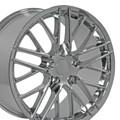 """18"""" Chevrolet Corvette C6 ZR1 Wheel Chrome 18x10.5"""" Rim"""