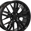 "20"" Fits Chevy Camaro ZL1 Style Gloss Black Staggered Wheels Set of 4 20x8.5/9.5"" Rims"