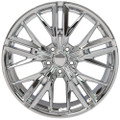 "20"" Fits Chevy Camaro ZL1 Style Chrome Wheels Set of 4 20x8.5"" Rims"