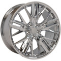 "20"" Fits Chevy Camaro ZL1 Style Chrome Staggered Wheels Set of 4 20x8.5/9.5"" Rims"