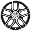 """20"""" Fits Ford Explorer Wheels Black Machined Face Set of 4 20x9"""" Rims"""