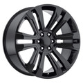 "22"" GMC Denali Chevy 1500 Wheels Gloss Black Set of 4 22x9"" Rims"