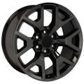 "22"" 2014-15 GMC Sierra Chevy 1500 Wheels PVD Black Chrome Set of 4 22x9"" Hollander 5656"
