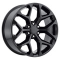"22"" 2015 CK156 CK 156 Chevy Silverado GMC Sierra 1500 Cadillac Gloss Black Wheels Set of 4 22x9"" Rims"