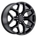 "24"" 2015 CK156 CK 156 Chevy Silverado GMC Sierra 1500 Cadillac Gloss Black Wheels Set of 4 24x10"" Rims"
