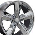 """20"""" Fits Dodge Challenger SRT8 Charger 300 Mopar Wheel Chrome 20x9 Hollander # 2329"""