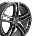 "18"" Fits Audi R8 Wheel Gunmetal 18x8"" Rim"