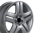 "17"" Fits VW Volkswagen Jetta Wheel - Silver 17x7 - Hollander 69751"
