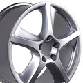 "22"" Fits Porsche - Cayenne Techno Replica Wheel - Silver 22x10"" - Hollander 67315"