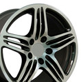 "22"" Fits Porsche - 911 GT Replica Wheel - Gunmetal 22x10"