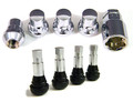 Chrome Locking Lug Nuts and Valve Stems - Set