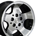 "15"" Fits Jeep - New Wrangler Replica Wheel - Black 15x8"