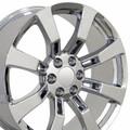 """22"""" Fits Cadillac - Escalade Replica Wheels - Chrome 22x9"""