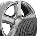 """20"""" Fits Chevrolet - Tahoe Wheels and Tires - Chrome 20x8.5"""