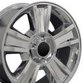 "20"" Fits GMC Tahoe Wheel Rim Chrome 20x8.5 -Hollander # 5416"