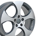 "17"" Volkswagen VW GTI Wheels Rims Audi Gunmetal Machined Face Set of 4 17x7"" Hollander # 69871"