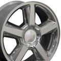 "22"" Fits Chevrolet Tahoe Escalade GMC Wheels Rims Polished Set of 4 22x9  Hollander # 5308"