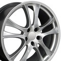 "20"" Fits Porsche - Cayenne GTS Style Turbo Replica Wheel - Painted Silver 20x9"" - Hollander"