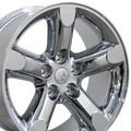 "20"" Fits Dodge Ram 1500 Chrysler Durango Dakota Wheels Rims Chrome Set of 4 20x9"" Rims Hollander 2267"