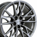 "19"" Staggered Lexus IS-F Wheels Rims Hyper Silver Set of 4 19x8 19x9 -Hollander 74246"
