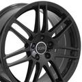 "18"" Fits Audi  RS4 Wheel Gloss Black Set of 4 18x8"" Rims"