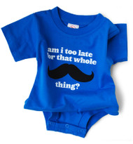 That Mustache Thing Snapsuit by Wry Baby