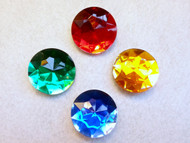 Sailor Moon Gem Brooches - Inner Scouts