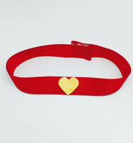 Sailor Moon Red Choker with Yellow Heart