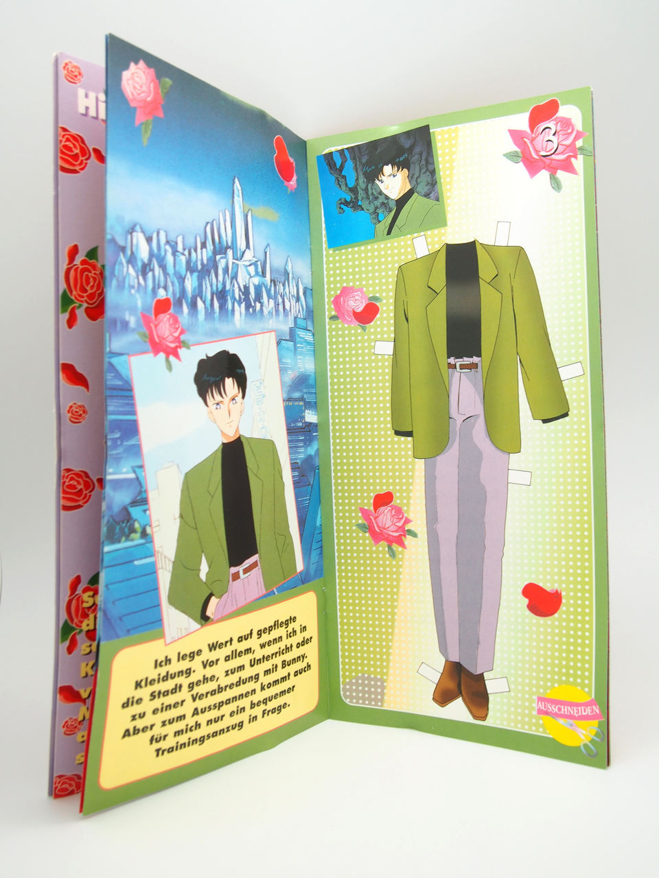 Sailor Moon Top Model Vintage Tuxedo Kamen Mask Doll Book
