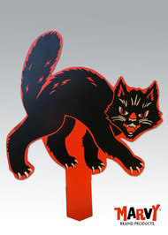 Marvy Vintage Halloween black cat yard sign