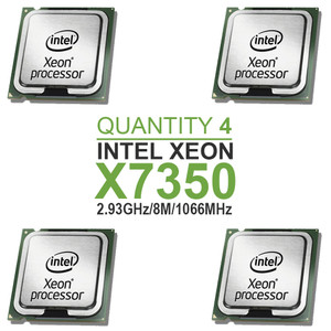 Qty 4 | Intel Xeon X7350 Quad Core Processors 2.93GHz/8M/1066MHz