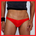 Groovin - Red V-Cut Bikini Brief Underwear