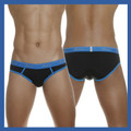 Groovin - Low Waist Hip Brief Black w/Blue Waistband